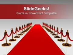 Red Carpet For Award Winners Success PowerPoint Templates Ppt Backgrounds For Slides 0313