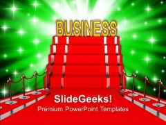 Red Carpet Presenting Business Concept PowerPoint Templates Ppt Backgrounds For Slides 0213