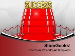 Red Carpet Success Concept Illustration PowerPoint Templates Ppt Backgrounds For Slides 0213