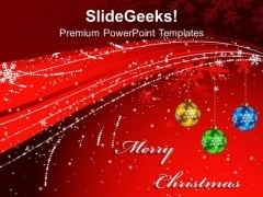 Red Christmas Background PowerPoint Templates Ppt Backgrounds For Slides 1112