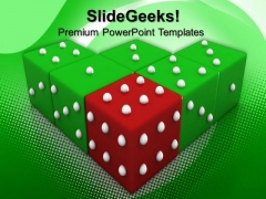 Red Dice Winning Leadership PowerPoint Templates And PowerPoint Themes 0612