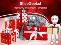 Red Gift Boxes Festival PowerPoint Themes And PowerPoint Slides 0511