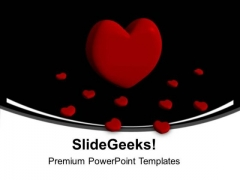 Red Heart Beauty PowerPoint Templates Ppt Background For Slides 1112