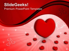 Red Heart PowerPoint Templates And PowerPoint Themes 0912