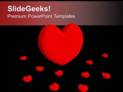 Red Heart Symbol Of Love PowerPoint Templates Ppt Backgrounds For Slides 0313