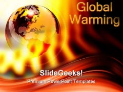 Red Hot World Globe PowerPoint Templates And PowerPoint Backgrounds 0711