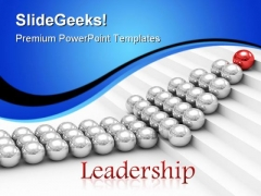 Red Leader Leadership PowerPoint Templates And PowerPoint Backgrounds 0711