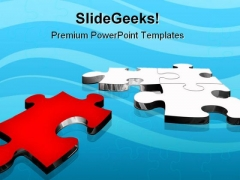 Red Puzzle Solution Business PowerPoint Themes And PowerPoint Slides 0711