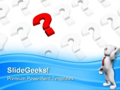 Red Question Mark Business PowerPoint Templates And PowerPoint Backgrounds 0511