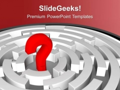 Red Question Mark In Labyrinth PowerPoint Templates Ppt Backgrounds For Slides 0613