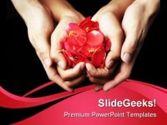 Red Rose Petals Beauty PowerPoint Templates And PowerPoint Backgrounds 0211