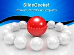 Red Sphere Leadership PowerPoint Themes And PowerPoint Slides 0811