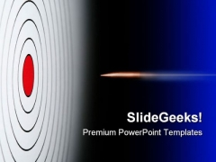 Red Target With Bullet Business PowerPoint Templates And PowerPoint Backgrounds 0811