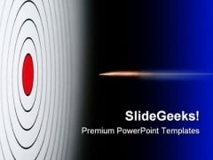 Red Target With Bullet Business PowerPoint Themes And PowerPoint Slides 0811