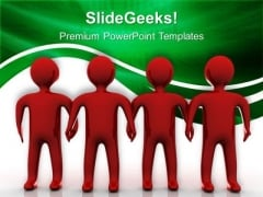 Red Team Teamwork PowerPoint Templates And PowerPoint Themes 0512