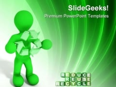 Reduce Reuse Recycle Environment PowerPoint Themes And PowerPoint Slides 0811