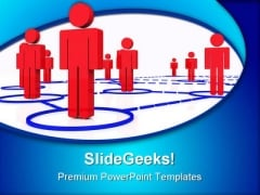 Render Human Connection Networking PowerPoint Themes And PowerPoint Slides 0511