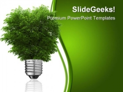 Renewable Energy Concept Metaphor PowerPoint Template 0810