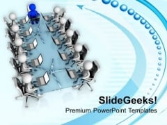 Resolve The Issues In Team Meeting PowerPoint Templates Ppt Backgrounds For Slides 0613