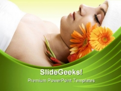 Resting In Spa Beauty PowerPoint Templates And PowerPoint Backgrounds 0311
