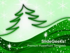 Ribbon Christmas Tree PowerPoint Templates And PowerPoint Themes 1012