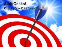 Right On Target Business PowerPoint Background And Template 1210