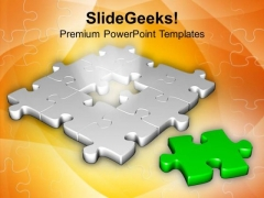 Right Part Can Fill The Problem Puzzle PowerPoint Templates Ppt Backgrounds For Slides 0613