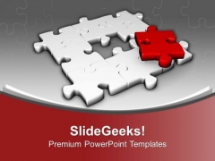Right Solution Puzzle For Business Problem PowerPoint Templates Ppt Backgrounds For Slides 0413