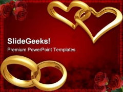 Rings Wedding PowerPoint Templates And PowerPoint Backgrounds 0811