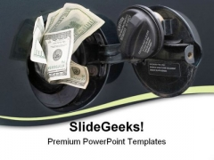 Rising Gas Prices Money PowerPoint Themes And PowerPoint Slides 0811