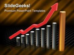 Rising Profit Business PowerPoint Templates And PowerPoint Backgrounds 0711