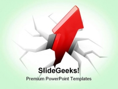 Rising Profits Business PowerPoint Themes And PowerPoint Slides 0411