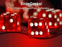 Risk Dices Business PowerPoint Template 0610