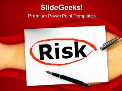 Risk In Business Finance PowerPoint Template 1110