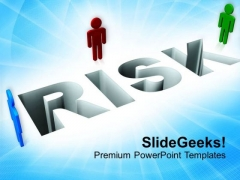 Risk With 3d Man Failure Profit Business PowerPoint Templates Ppt Backgrounds For Slides 0113
