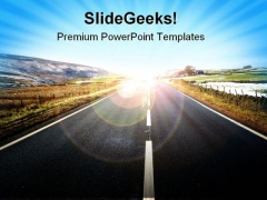 Road In Yorkshire Dales Vacation PowerPoint Themes And PowerPoint Slides 0411