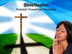 Road To Heaven Symbol PowerPoint Templates And PowerPoint Themes 0712