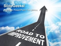 Road To Improvement Success PowerPoint Templates And PowerPoint Backgrounds 0111