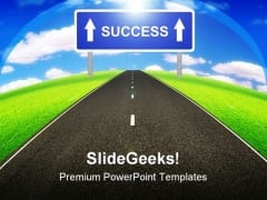 Road To Success Business PowerPoint Themes And PowerPoint Slides 0411