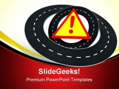 Road Warning Travel PowerPoint Templates And PowerPoint Backgrounds 0711