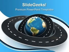 Roads Around The World Travel PowerPoint Themes And PowerPoint Slides 0811
