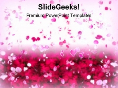 Rose Petals Beauty PowerPoint Templates And PowerPoint Backgrounds 0711