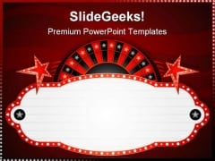 Roulette Neon Sports PowerPoint Themes And PowerPoint Slides 0711
