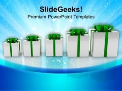 Row Of Gift Boxes Events PowerPoint Templates Ppt Backgrounds For Slides 1112