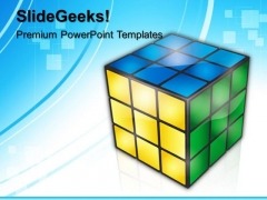 Rubik Cube Game PowerPoint Templates And PowerPoint Themes 0612