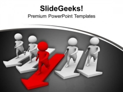 Run Fast To Find Your Target PowerPoint Templates Ppt Backgrounds For Slides 0613