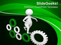 Run Fast To Gear The Business PowerPoint Templates Ppt Backgrounds For Slides 0613