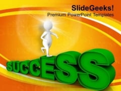 Run For Getting Success PowerPoint Templates Ppt Backgrounds For Slides 0613