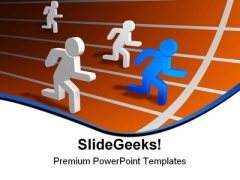 Running Man Success PowerPoint Templates And PowerPoint Backgrounds 0811