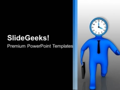 Running Out Of Time Business Concept PowerPoint Templates Ppt Backgrounds For Slides 0613